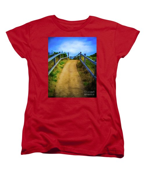 Women's T-Shirt (Standard Cut) featuring the photograph Coast Path by Perry Webster
