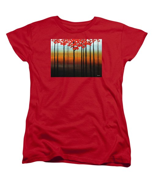 Women's T-Shirt (Standard Cut) featuring the painting Coastal Radiance by Carmen Guedez