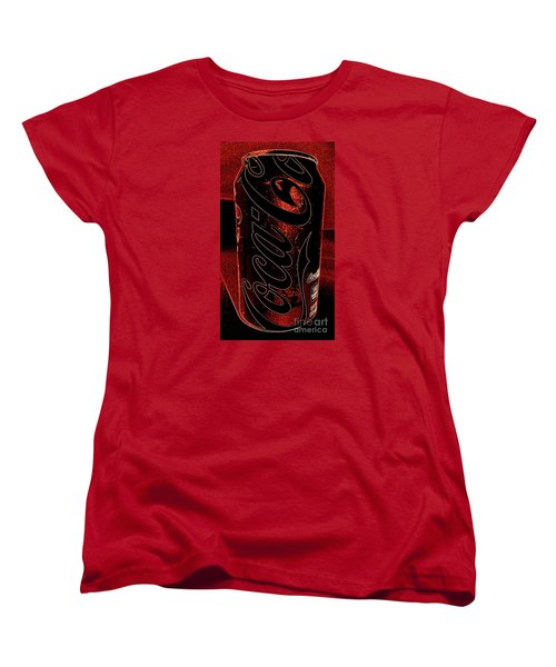 Coca Cola Can Coin Safe Women's T-Shirt (Standard Cut) by Richard W Linford