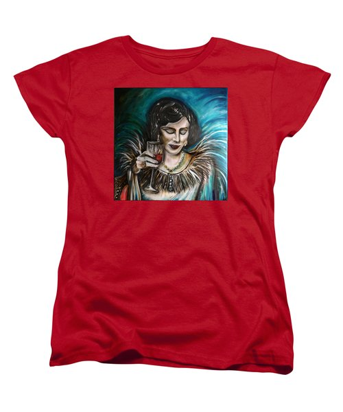 Women's T-Shirt (Standard Cut) featuring the painting Coco by Sandro Ramani