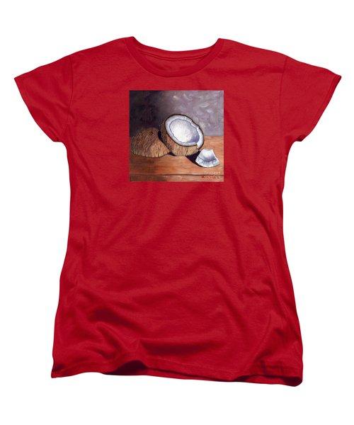 Coconut Anyone? Women's T-Shirt (Standard Cut) by Laura Forde
