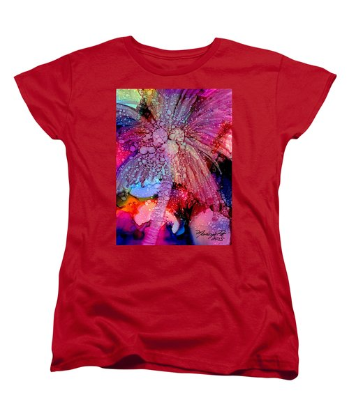 Women's T-Shirt (Standard Cut) featuring the painting Coconut Palm Tree 4 by Marionette Taboniar