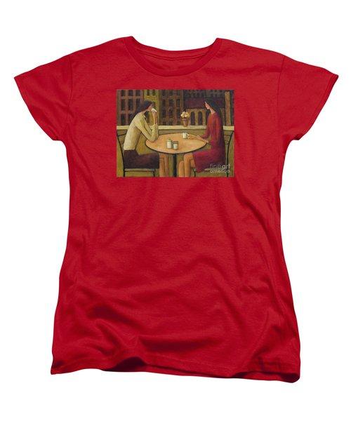 Women's T-Shirt (Standard Cut) featuring the painting Coffee Break by Glenn Quist