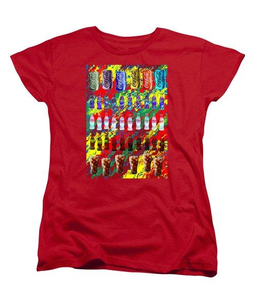 Women's T-Shirt (Standard Cut) featuring the digital art Coke Life, Happy Life by Saad Hasnain