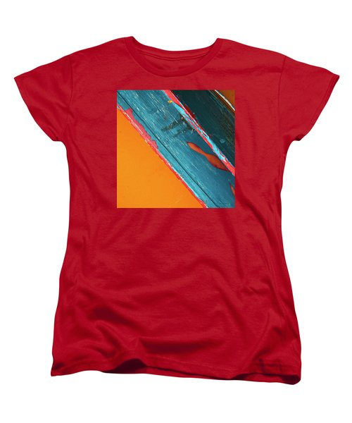 Women's T-Shirt (Standard Cut) featuring the photograph Color Abstraction Lxii Sq by David Gordon