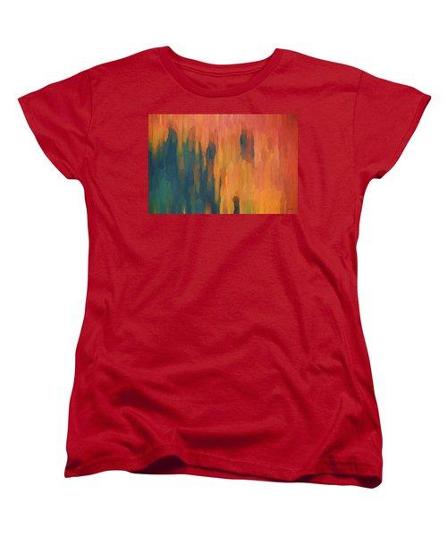 Color Abstraction Xlix Women's T-Shirt (Standard Cut) by David Gordon