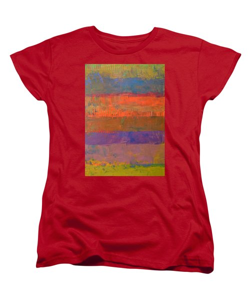 Color Collage Two Women's T-Shirt (Standard Cut) by Michelle Calkins