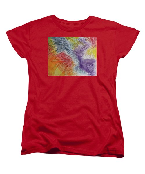 Women's T-Shirt (Standard Cut) featuring the drawing Color Spirit by Marat Essex