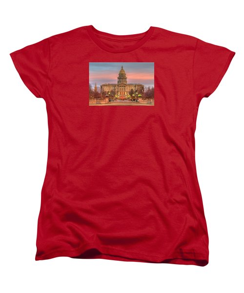 Women's T-Shirt (Standard Cut) featuring the photograph Colorado Capital by Gary Lengyel
