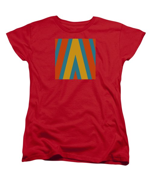 Colorful Chevrons Women's T-Shirt (Standard Cut) by Bonnie Bruno