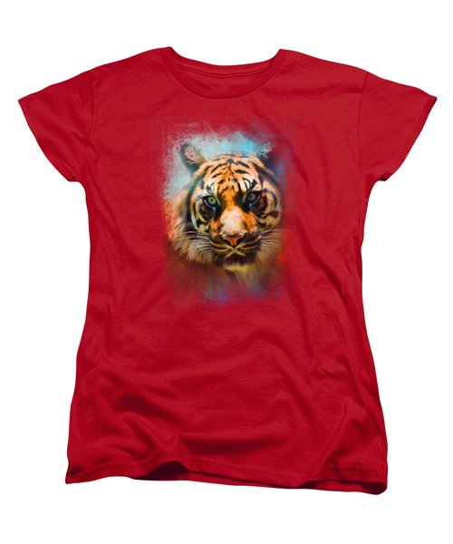 Colorful Expressions Tiger 2 Women's T-Shirt (Standard Cut) by Jai Johnson