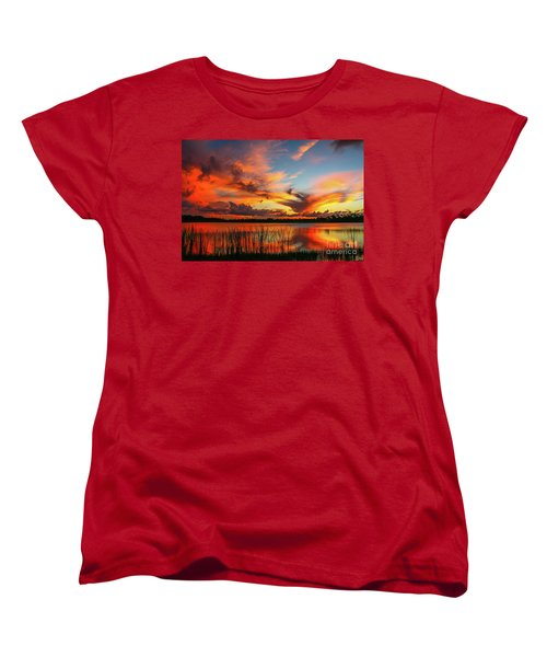 Colorful Fort Pierce Sunset Women's T-Shirt (Standard Cut) by Tom Claud
