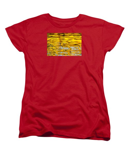 Colorful Reflection In The Water Women's T-Shirt (Standard Cut) by Odon Czintos