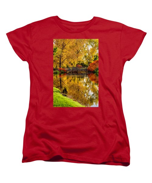 Women's T-Shirt (Standard Cut) featuring the photograph Colorful Reflections by Kristal Kraft