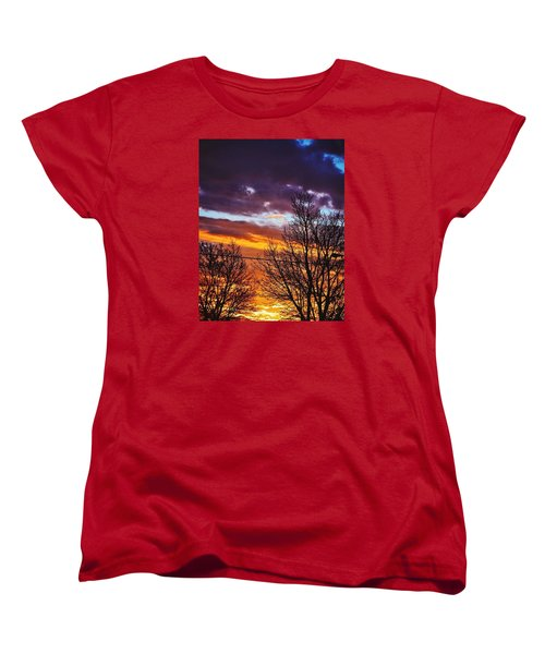 Colorful Skies Women's T-Shirt (Standard Cut) by Nikki McInnes