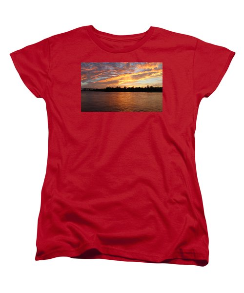 Women's T-Shirt (Standard Cut) featuring the photograph Colorful Sky At Sunset by Cynthia Guinn
