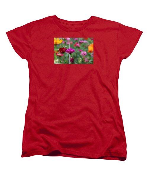 Colorful Summer Women's T-Shirt (Standard Cut) by Yumi Johnson