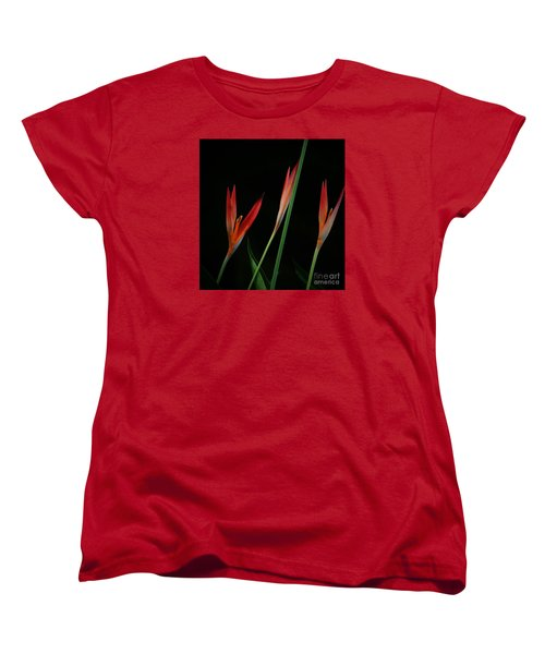 Women's T-Shirt (Standard Cut) featuring the photograph Colorful Trio by Pamela Blizzard