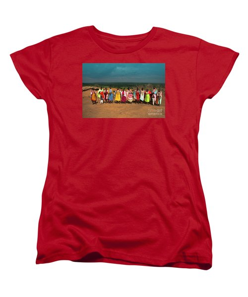 Women's T-Shirt (Standard Cut) featuring the photograph Colors And Faces Of The Masai Mara by Karen Lewis
