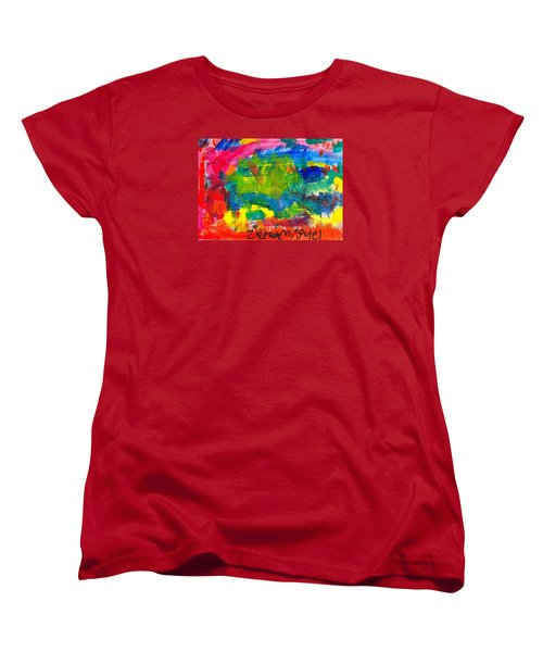 Women's T-Shirt (Standard Cut) featuring the painting Colors by Artists With Autism Inc