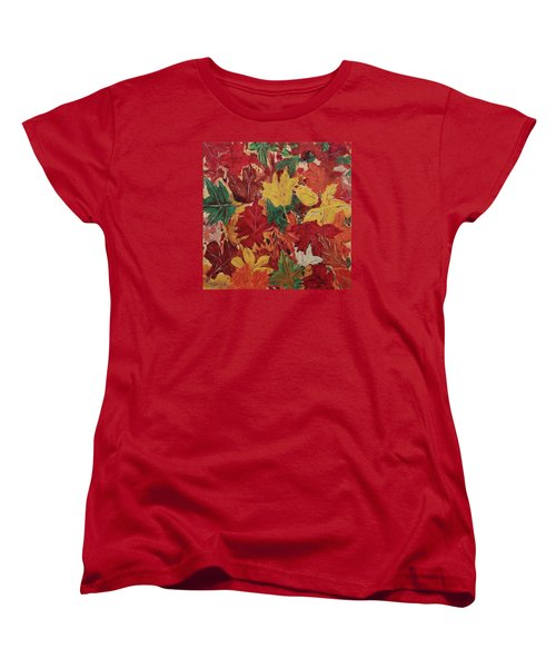 Colors Of October Women's T-Shirt (Standard Cut) by Mike Caitham