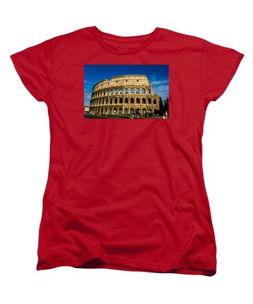 Colosseo Roma Women's T-Shirt (Standard Cut) by Rainer Kersten