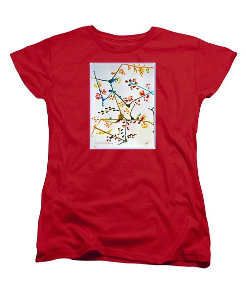 Colourful Blossoms Women's T-Shirt (Standard Cut) by Sonali Gangane