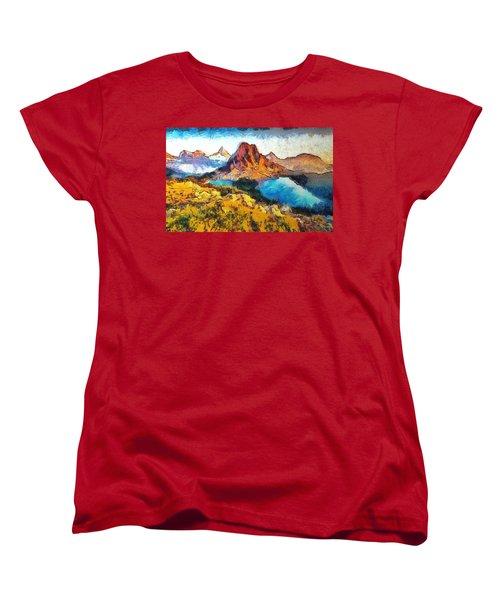 Columbia Lake Reverie Women's T-Shirt (Standard Cut) by Mario Carini
