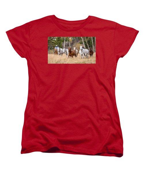 Come Running Women's T-Shirt (Standard Cut) by Jack Bell