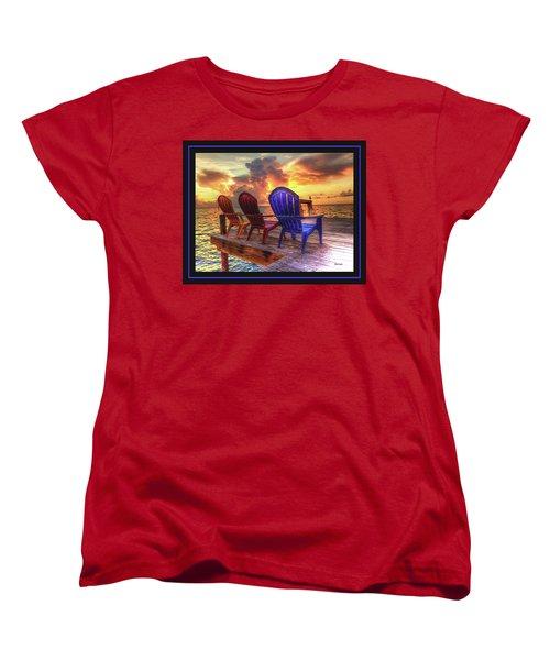 Come Sit A While Women's T-Shirt (Standard Cut) by Steven Lebron Langston