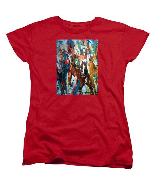 Coming Up Green Women's T-Shirt (Standard Cut) by Heather Roddy