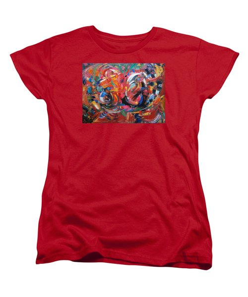Women's T-Shirt (Standard Cut) featuring the painting Committee Action by Gary Coleman