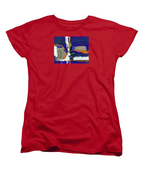Women's T-Shirt (Standard Cut) featuring the painting Composition Orientale No 1 by Walter Fahmy