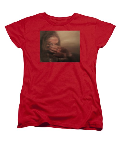 Women's T-Shirt (Standard Cut) featuring the painting Concealed by Cherise Foster