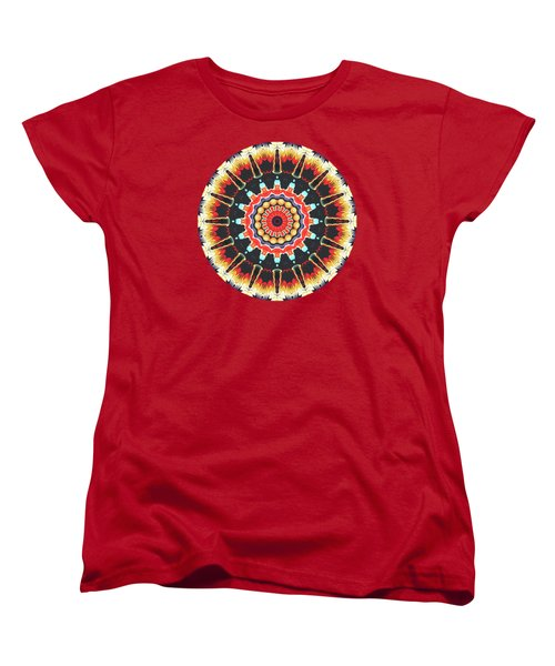 Concentric Balance Of Colors Women's T-Shirt (Standard Cut) by Phil Perkins