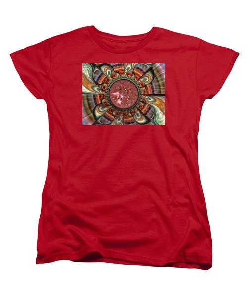 Women's T-Shirt (Standard Cut) featuring the digital art Conception by Manny Lorenzo