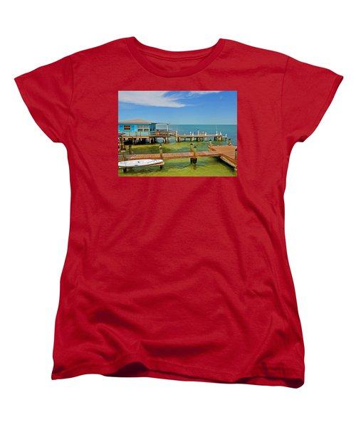 Conch Key Blue Cottage 3 Women's T-Shirt (Standard Cut)