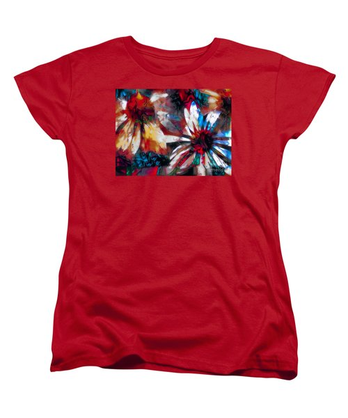 Cone Flower Fantasia I Women's T-Shirt (Standard Cut) by Jack Torcello