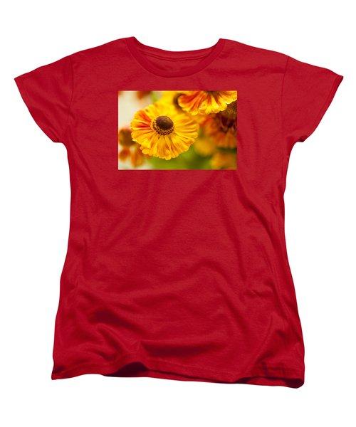 Women's T-Shirt (Standard Cut) featuring the photograph Coneflower Macro by Jenny Rainbow