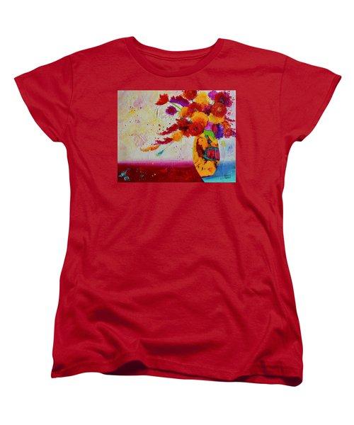 Confetti Women's T-Shirt (Standard Cut) by Nancy Jolley