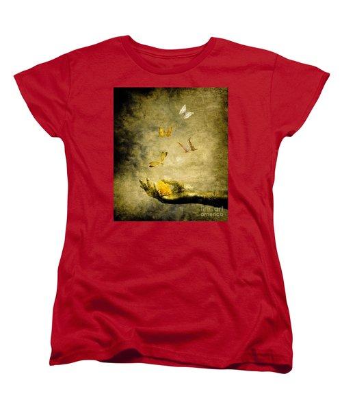 Connect Women's T-Shirt (Standard Cut) by Jacky Gerritsen
