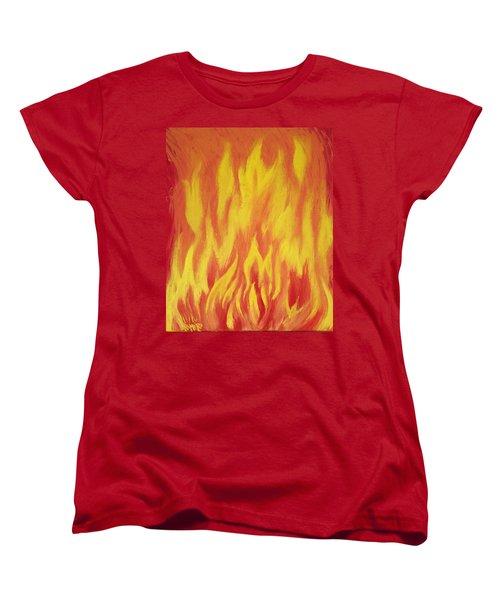 Consuming Fire Women's T-Shirt (Standard Cut) by Antonio Romero
