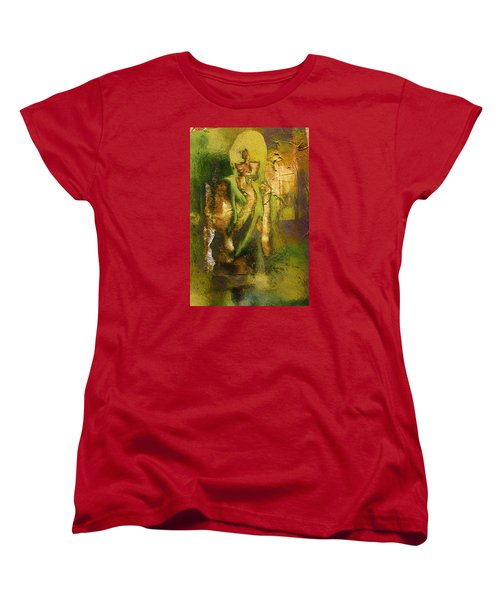 Copper Hair Women's T-Shirt (Standard Cut) by Andrea Barbieri