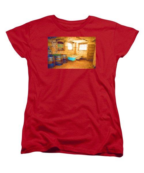 Women's T-Shirt (Standard Cut) featuring the digital art Cornered by Holly Ethan