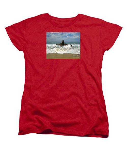 Women's T-Shirt (Standard Cut) featuring the photograph Corona Del Mar 4 by Cheryl Del Toro