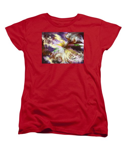 The Flowering Of The Cosmos Women's T-Shirt (Standard Cut) by Amyla Silverflame