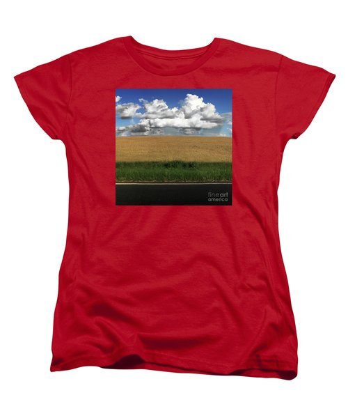 Women's T-Shirt (Standard Cut) featuring the photograph Country Field by Brian Jones