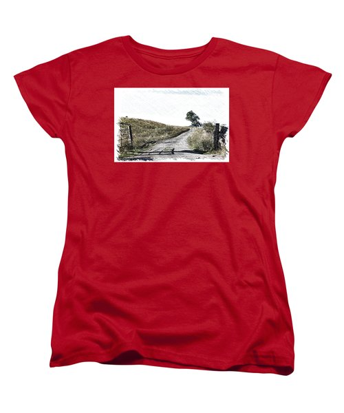 Country Lane Women's T-Shirt (Standard Cut) by RKAB Works