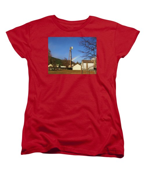 Women's T-Shirt (Standard Cut) featuring the photograph Country Rainbow by Mary Ellen Frazee