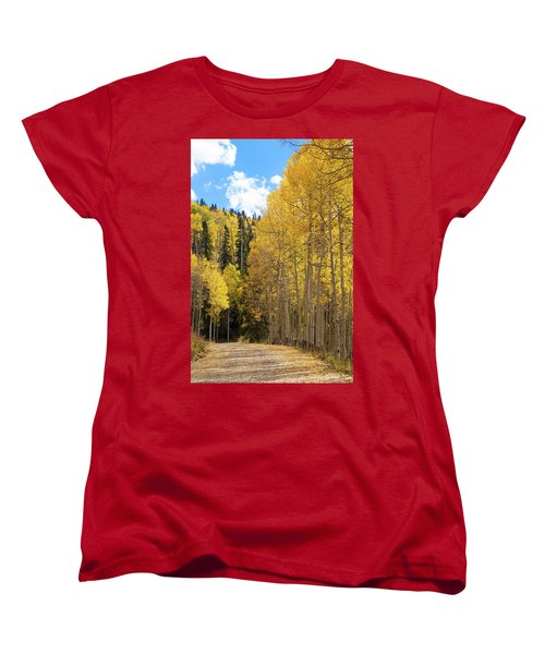Women's T-Shirt (Standard Cut) featuring the photograph Country Roads by David Chandler